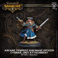 arcane tempest gun mage officer cygnar unit attachment
