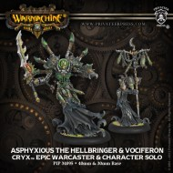 asphyxious the hellbringer and vociferon cryx epic warcaster and character solo