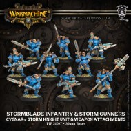 stormblade infantry and storm gunners cygnar storm knight unit and weapon attachments