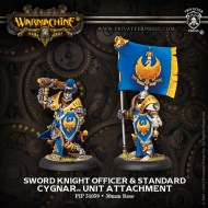 sword knight officer and standard cygnar unit attachment