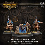 trencher cannon crew cygnar weapon crew unit